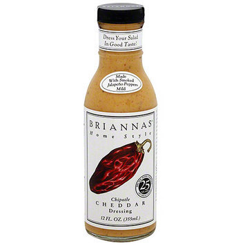 Briannas Brianna's Home Style Chipotle Cheddar Dressing, 12 oz (Pack of 6)