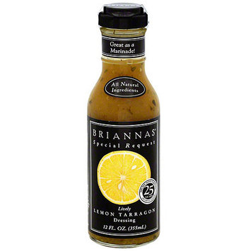 Briannas Brianna's Lively Lemon Tarragon Dressing, 12 oz (Pack of 6)