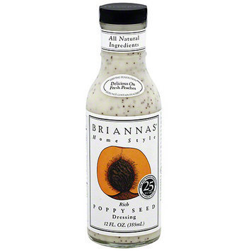 Briannas Brianna's Poppy Seed Dressing, 12 oz (Pack of 6)