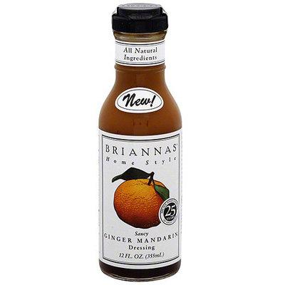 Briannas Saucy Ginger Mandarin Dressing, 12 oz (Pack of 6)