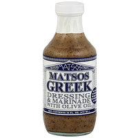 Matsos Dressing & Marinade With Olive Oil, 16 oz (Pack of 6)