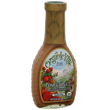 Organicville Organic Pomegranate Vinaigrette, 8 oz (Pack of 6)