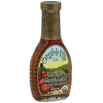 Organicville Organic Sun Dried Tomato & Garlic Vinaigrette, 8 oz (Pack of 6)