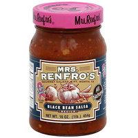 Mrs. Renfro's Black Bean Medium Salsa, 16 oz (Pack of 6)