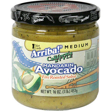 Arriba! Avocado With Fire Roasted Tomatillos Salsa, 16 oz (Pack of 6)