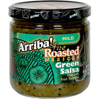 Arriba Mild Fire Roasted Mexican Green Salsa, 16 oz (Pack of 6)