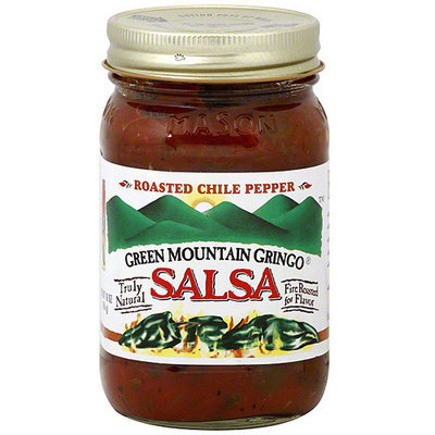 Green Mountain Gringo Roasted Chile Pepper Medium Salsa, 16 oz (Pack of 6)