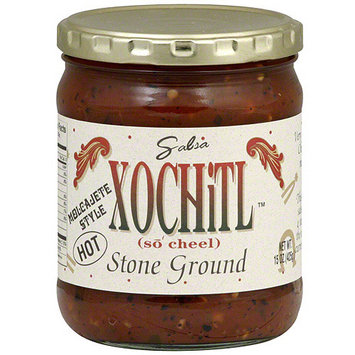 Xochitl Stone Ground Hot Salsa, 15 oz (Pack of 6)