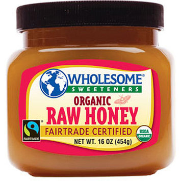 Wholesome Sweeteners Organic Raw Honey, 16 oz (Pack of 6)