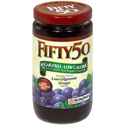 Fifty 50 Low Glycemic Grape Spread, 12 oz, - Pack of 6