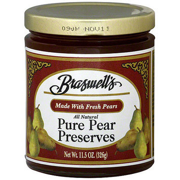 Braswell's Preserves Pear, 11.5 oz. (Pack of 6)