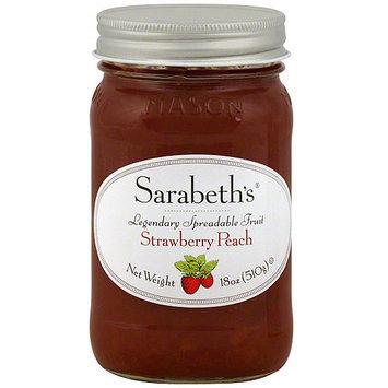 Sarabeth's Legendary Strawberry Peach Spreadable Fruit, 18 oz (Pack of 6)