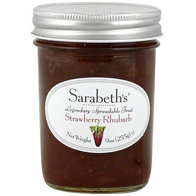 Sarabeth's Strawberry Rhubarb Spreadable Fruit, 9 oz (Pack of 6)