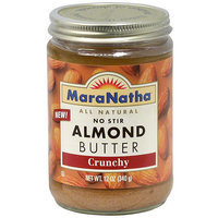 Maranatha Crunchy No Stir Almond Butter, 12 oz (Pack of 6)