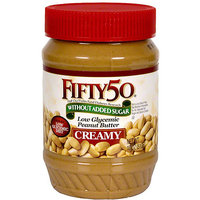 Fifty50 Low-Glycemic Peanut Butter, 18 oz (Pack of 6)