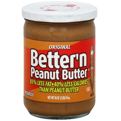 Better N Peanut Butter Better 'N Peanut Butter Original Spread, 16 oz (Pack of 6)