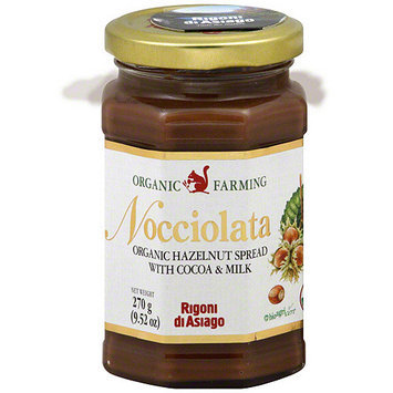 Rigoni Di Asiago Organic Nocciolata Hazelnut Spread With Cocoa & Milk, 9.52 oz (Pack of 6)