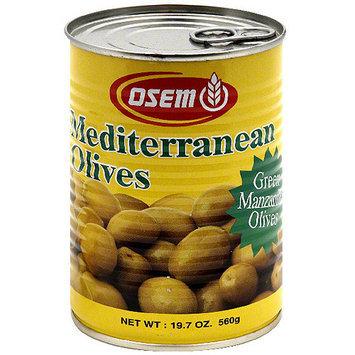 Osem Large Green Olives, 19.7 oz (Pack of 12)