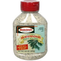 Manischewitz Creamy Horseradish Sauce With Dill, 9.25 oz (Pack of 9)