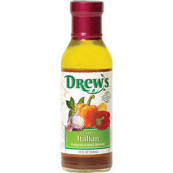 Drew's Classic Italian Vinaigrette Dressing, 12 oz (Pack of 6)
