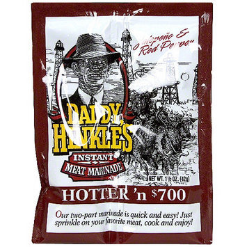 Daddy Hinkle's Hotter 'N 700 Jalapeno & Red Pepper Meat Marinade, 1.5 oz (Pack of 24)