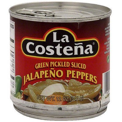 La Costena Green Pickled Sliced Jalapeno Peppers, 12 oz (Pack of 12)