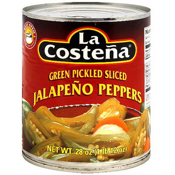 La Costena Green Pickled Sliced Jalapeno Peppers, 28 oz (Pack of 12)