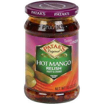 Patak's Original Hot Mango Fruity & Chunky Extra Hot Relish, 10 oz (Pack of 6)