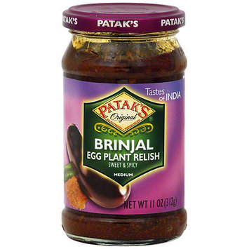 Patak's Brinjal Sweet & Spicy Medium Egg Plant Relish, 11 oz (Pack of 6)