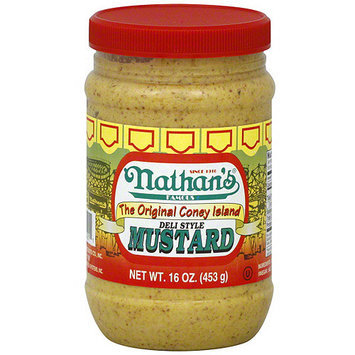 Nathan's Famous Deli Style Mustard, 16 oz (Pack of 12)