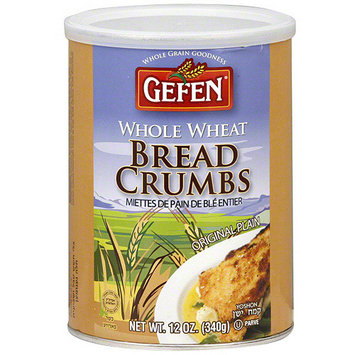 Gefen Whole Wheat Bread Crumbs, 12 oz (Pack of 12)