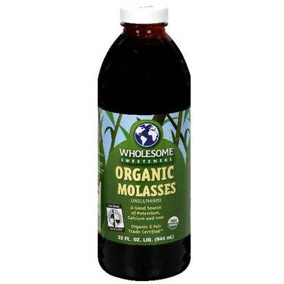 Wholesome Sweeteners Sweeteners Molasses, Blackstrap Organic, 32 oz. (Pack of 6)
