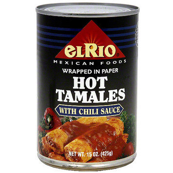 El Rio Hot Tamales With Chili Sauce, 15 oz (Pack of 12)