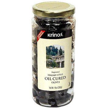 Krinos Oil Cured Olives, 10 oz (Pack of 6)