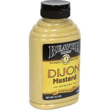 Beaver Brand Hot Dijon Mustard, 12.5 oz (Pack of 6)