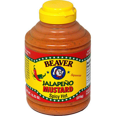 Beaver Brand Extra Hot Jalapeno Mustard, 13.25 oz (Pack of 6)