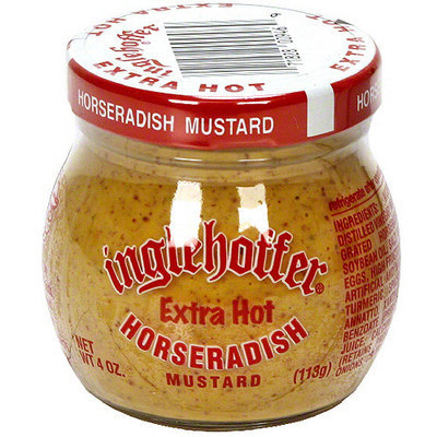 Inglehoffer Extra Hot Horseradish Mustard, 4 oz (Pack of 12)