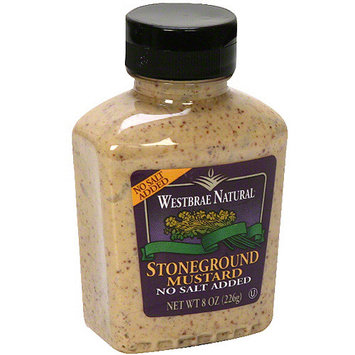 Westbrae Natural Stone Ground Mustard, 8 oz (Pack of 12)