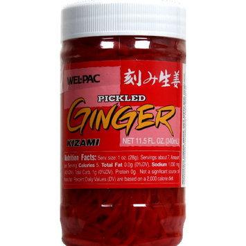 Wel-Pac Kizami Pickled Ginger, 11.5 oz (Pack of 12)