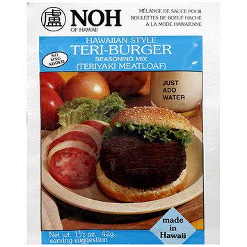 Noh Of Hawaii Hawaiian Style Teri Burger Seasoning Mix, 1.5 oz (Pack of 12)