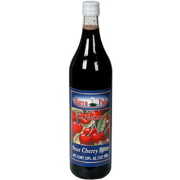 Marco Polo Sour Cherry Syrup, 33.8 oz (Pack of 12)