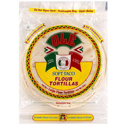 Ole Mexican Foods Ole Soft Taco Flour Tortillas, 16 oz (Pack of 12)