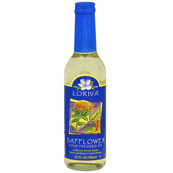 Loriva Cold Pressed Safflower oil, 12.7 oz (Pack of 6)