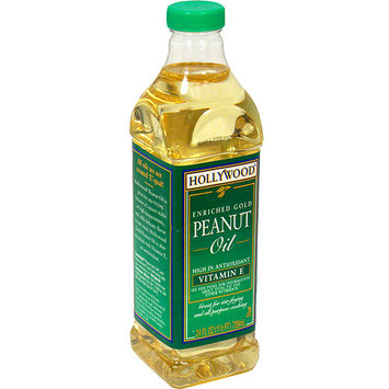 Hollywood Enriched Gold Peanut Oil, 24 oz (Pack of 12)