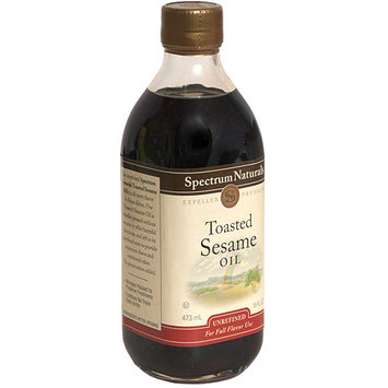 Spectrum Natural Toasted Sesame Oil, 16 oz (Pack of 6)