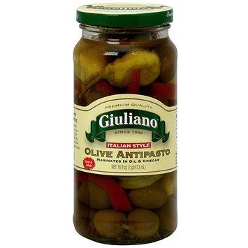 Giuliano Italian Style Olive Antipasto, 16 oz (Pack of 6)