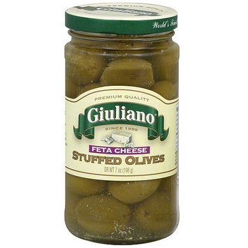 Giuliano Feta Cheese Stuffed Olives, 7 oz (Pack of 6)