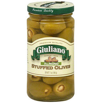Giuliano Almond Stuffed Olives, 7 oz (Pack of 6)