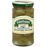 Giuliano Stuffed Bleu Cheese Olives, 7 oz (Pack of 6)