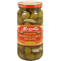 Mezzetta Jalapeno Garlic Olives, 9.5 oz (Pack of 6)